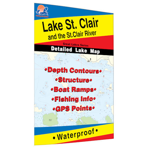 Lake St. Clair & St. Clair River Map