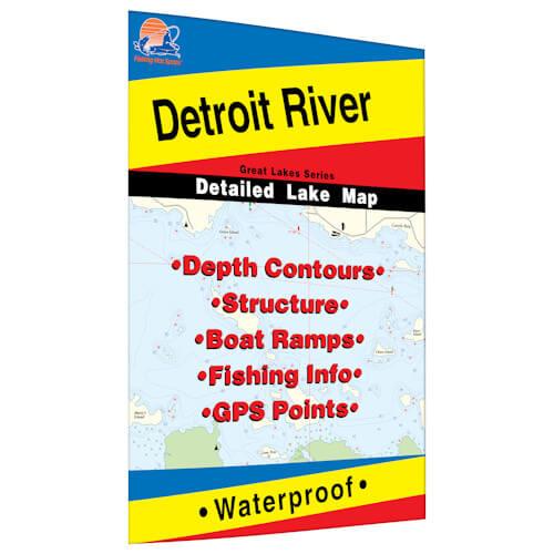 Detroit River Map