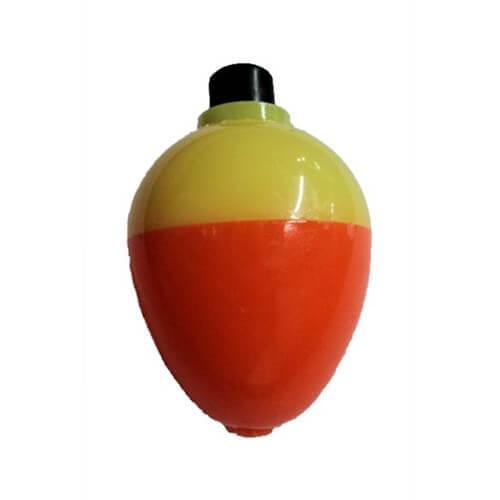1 1/4 Pear Fluorescent Yellow & Orange Bobbers
