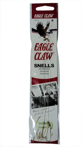 Eagle Claw Gold Aberdeen Snelled Hooks