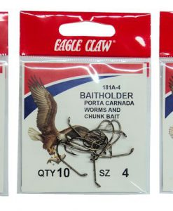 Assorted Eagle Claw Bait Holder Hooks