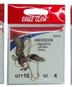 Assorted Eagle Claw Gold Aberdeen Hooks