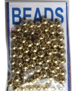 8Mm Gilt Gold-Plated Beads