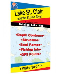 Lake St. Clair & St. Clair River Map