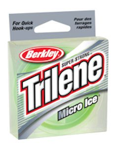 Berkley Trilene Micro Ice Fishing Line - Solar Green