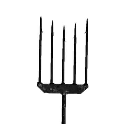 5-Tine Spear With Barbs, Non-Weighted
